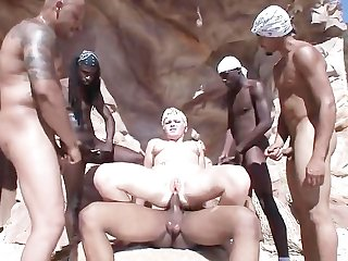gangbang, shaved, blonde, pornstar, dp, bbc, doggystyle, anal, interracial, hardcore