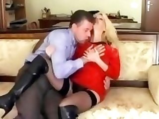 Classy blondem milf acquires eaten out