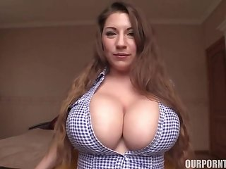 big tits showing off, titjob for dildo toy