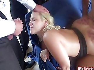 Cum covered doggy style