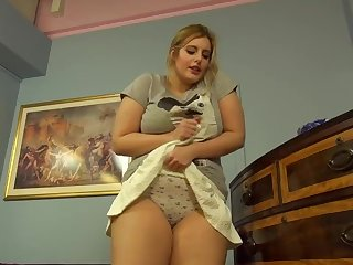 Ellie (Elle) Roe - Wetting her Panties in Short Skirt