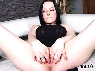 Randy czech nympho gapes her spread snatch to the extre...