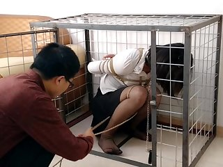 The caged Chinese girl