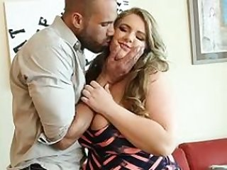 Large Tit BBW MILF Veronica Gags on Big Latino Purple pole