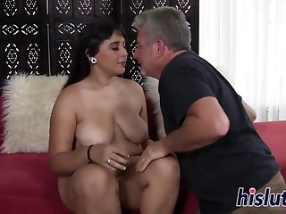 Chubby minx has her orgasmic beaver penetrated