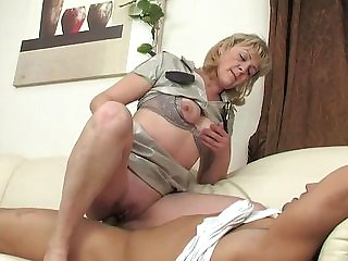 Mature policewoman fucks guy