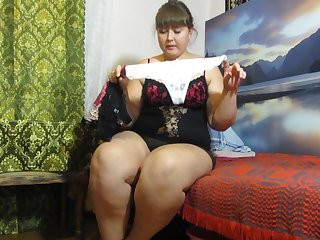 Pissing in panties fat Russian woman)