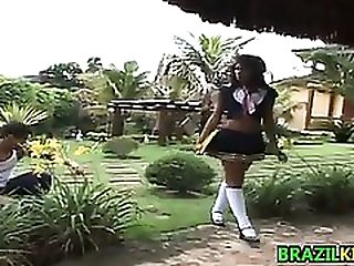 Brazilian Schoolgirl Fucking Outdoors