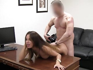 Insanely beautiful girl fucked hard in the casting office