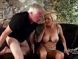 Horny wife used hard by old men