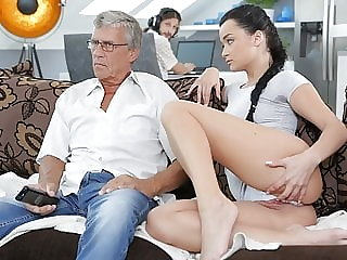 DADDY4K. Aroused cutie permits BF's daddy to fuck her greedy pussy