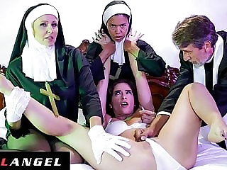 Priest & Nuns Fuck The Demon Out Of Possessed Slut
