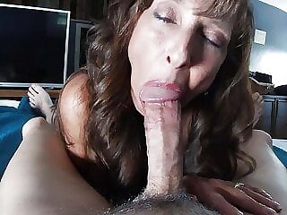 Sexy Granny Gives Oral Pleasure, Gets Big Cumshot and Swallows