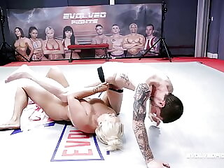 MILF London Rose Nude Wrestling A Guy Being Fucked Hard