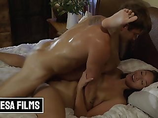 Nathan Shoves His Cock Deep In Bella Rolland's Cunt And Jizzes