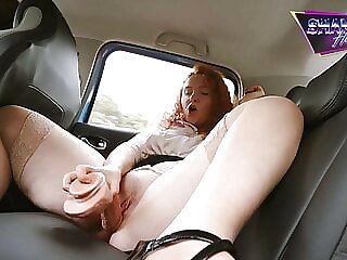 Uber Driver Sees me Squirt - Shannon Heels
