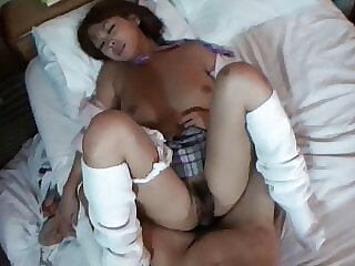 Taka is a sexy schoolgirl with a hairy pussy and wants to fuck