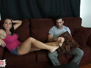 Dre Hazel Ballbusting FootJob Part 1 (Intro)