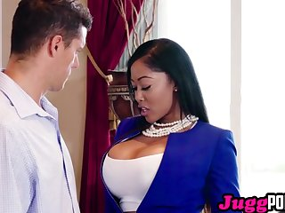 JuggPorn. Moriah Mills woks her ass hard to sell a house