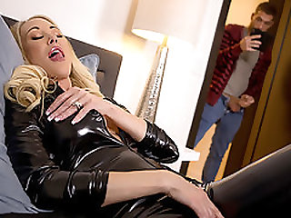 Stepmoms Latex Dress Makes Her Son Hard