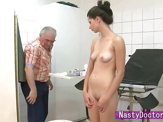 Petite Petra Rides Dirty Old Doctor