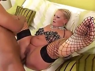 Interracial Anal Session With A Mature Blonde