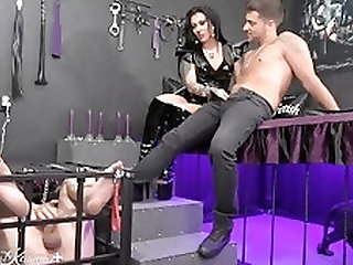 Mistress Kennya: Cum feeding the loser
