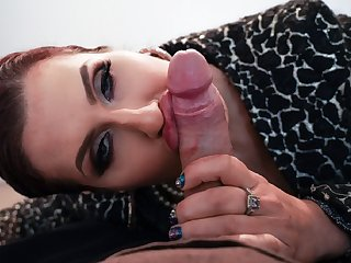 Savana Styles sucked her stepsons cock for a messy blowjob