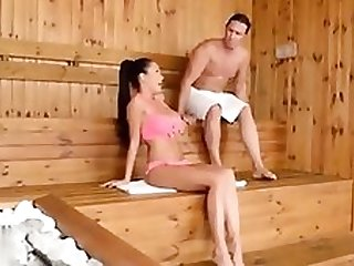 Slovak honey romps in Sauna. Utter of sweat