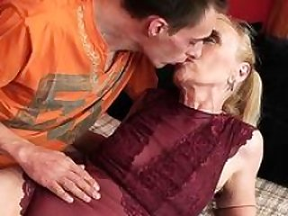 Mature pensioner creampied