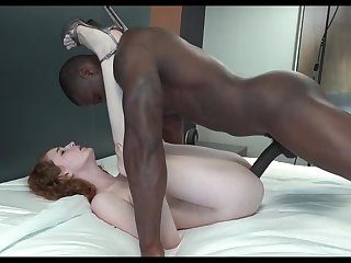 coed red loves big black male stick creampie