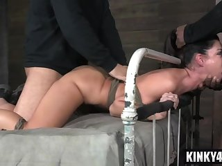 Hottie housewife bdsm bondage and ejaculate