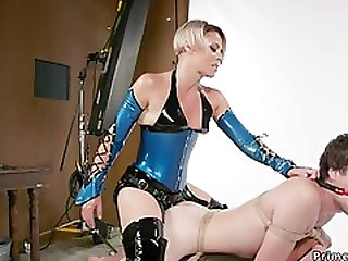 Mommy In Latex Assfuck Bangs Gagged Male Sub