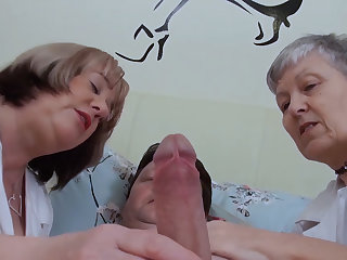 Old nurses take very good care of their patient!