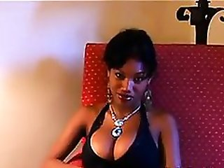 Busty Ebony Chick Giving A BLowjob POV