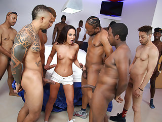 Amara Romani Gets Gangbanged By Black Cocks