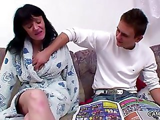 43yr Old Housewife Seduce German Step-son To Fornicate Her