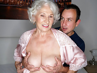 Granny cheating on her hubby with a younger guy