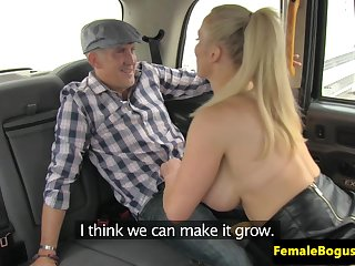 British cabbie babe fucking surprised client