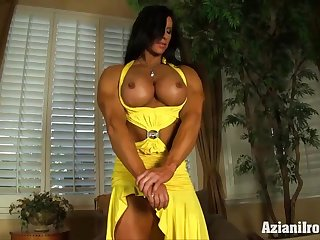 Big Clit Milf rams dildo in her fat pussy