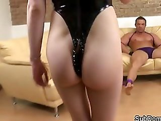Dominant Euro Grinding On Subs Cock