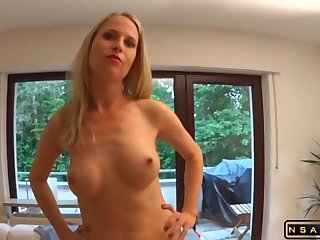 Super HOT German milf fucked in her asshole facial