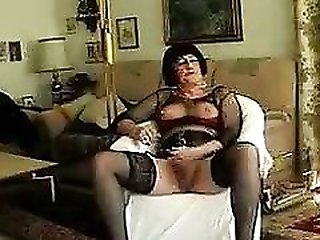 Ladyboy in stockings