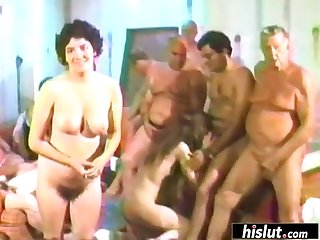 Huge orgy with MILFs who want to please