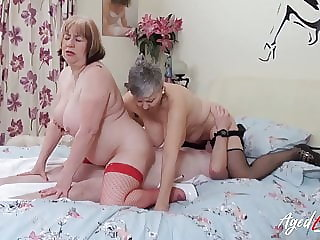 AgedLovE British Matures Hardcore Threesome