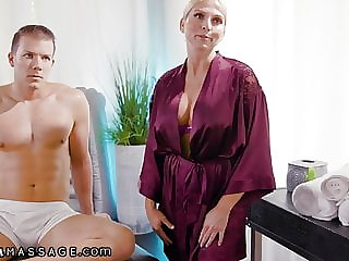NuruMassage Jillian Janson & Stepmom Ride 1 Lucky Guy