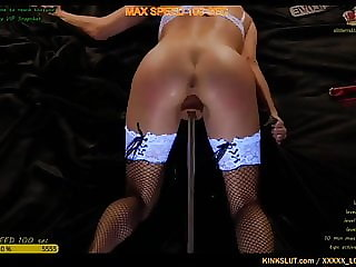 MAX SPEED!!!!   FUCKING MACHINES MAKES PUSSY SQUIRT