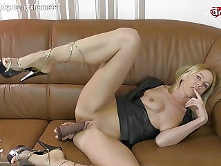 MyDirtyHobby - German MILF solo anal cam show using her toys