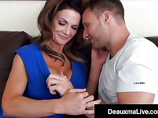 Cock Milking Mommy Deauxma Rides Young Guy's Hard Dick!