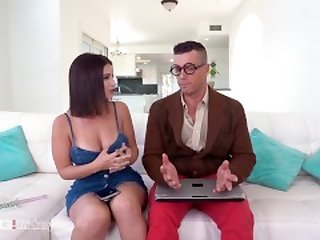 Trickery - Busty Latina Tricks Computer Nerd Into Sex